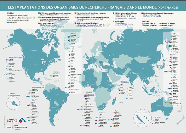 Carte Canada Dans Le Monde.Cartographie De La Recherche Francaise Campus France