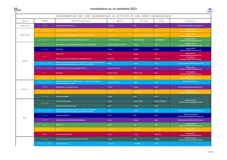 Calendrier Lancement Ariane 2019.Calendrier Des Manifestations 2019 Campus France