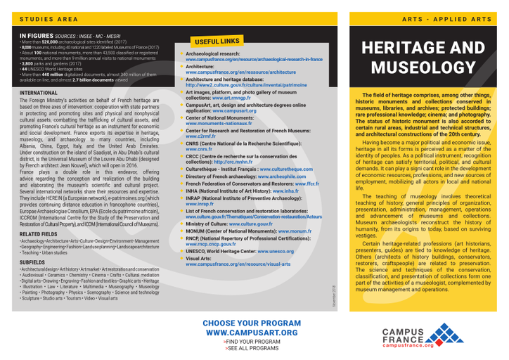 Heritage and Museology | Campus France