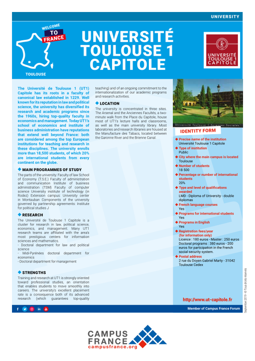 universit u00e9 toulouse 1 capitole
