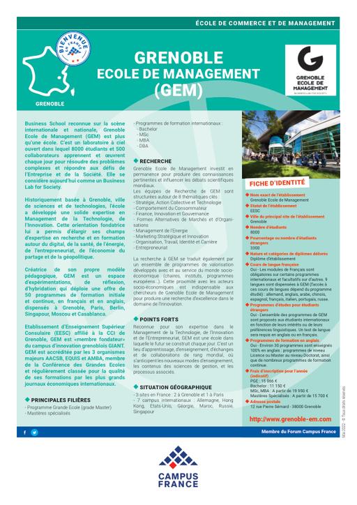 Grenoble Ecole De Management Campus France